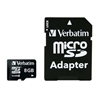 Verbatim 8GB MICRO SECURE DIGITAL (SDHC) CARD C10 WITH ADAPT